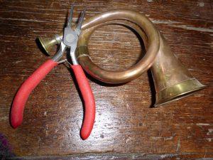 Jagdhorn zur Reparatur